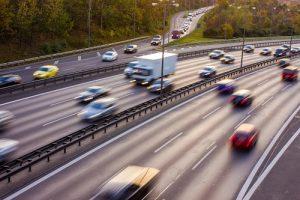 Traffic on Motorway at Rush Hour in Berlin, Germany