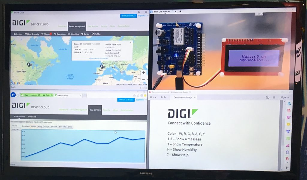 LTE-M-NB-IoT display