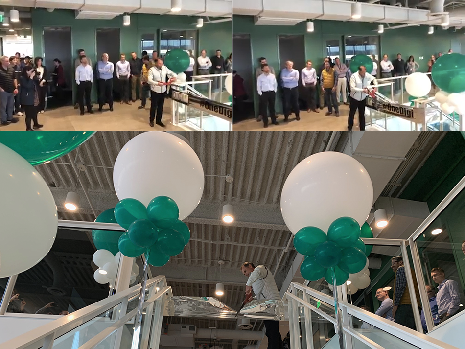 Ribbon Cutting Montage