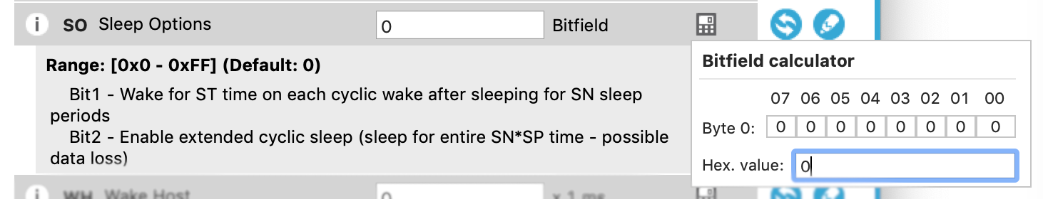 Sleep Options XCTU